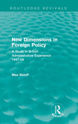 New Dimensions in Foreign Policy (Routledge Revivals): 1st Edition (Paperback) book cover