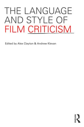 The Language and Style of Film Criticism (Paperback) book cover