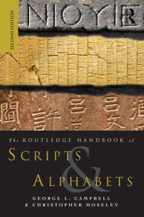 The Routledge Handbook of Scripts and Alphabets: 2nd Edition (Paperback) book cover