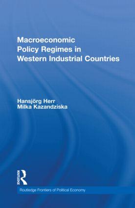 Macroeconomic Policy Regimes in Western Industrial Countries (Hardback) book cover