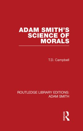 Adam Smith's Science of Morals (Hardback) book cover