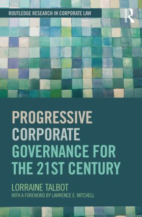 Progressive Corporate Governance for the 21st Century (Hardback) book cover