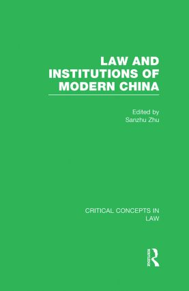 Law and Institutions of Modern China book cover
