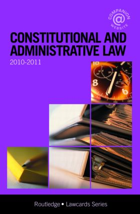 Constitutional and Administrative Lawcards 2010-2011