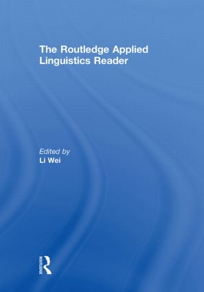 The Routledge Applied Linguistics Reader (Hardback) book cover