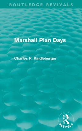 Marshall Plan Days (Routledge Revivals)