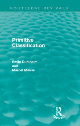 Primitive Classification (Routledge Revivals) book cover