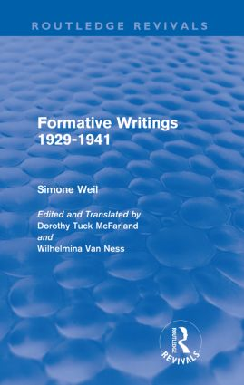 Formative Writings (Routledge Revivals)