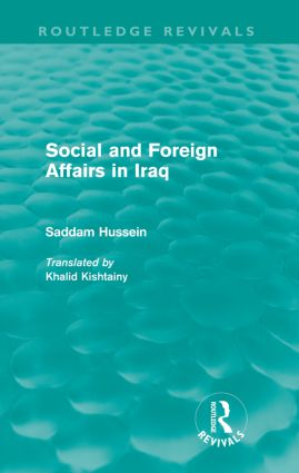 Social and Foreign Affairs in Iraq (Routledge Revivals): 1st Edition (Paperback) book cover