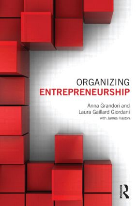 Organizing Entrepreneurship: 1st Edition (Paperback) book cover
