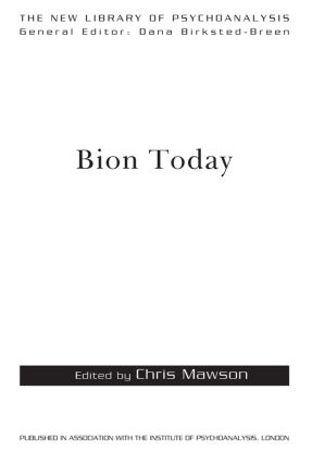 Bion Today book cover