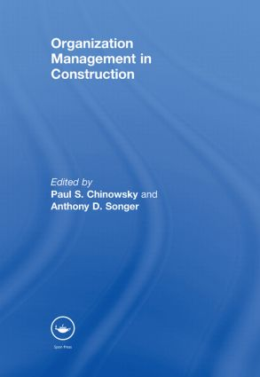 Organization Management in Construction (Hardback) book cover