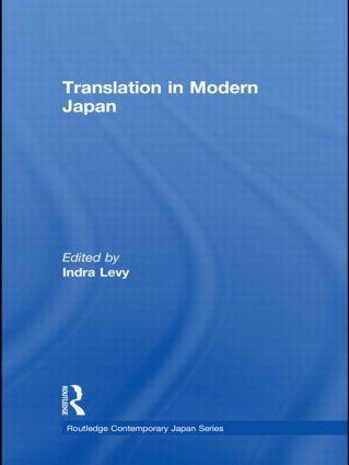 Translation in Modern Japan (Hardback) book cover