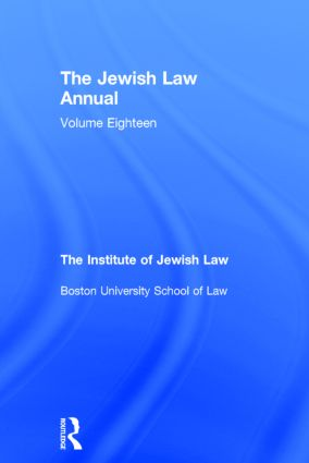 The Jewish Law Annual Volume 18 (Hardback) book cover