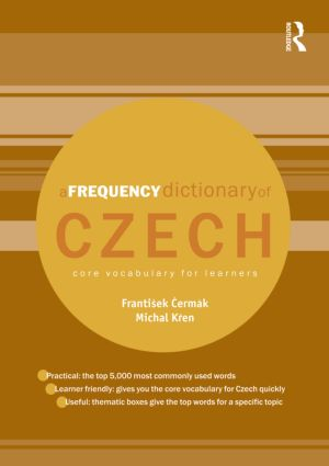 A Frequency Dictionary of Czech: Core Vocabulary for Learners (Paperback) book cover