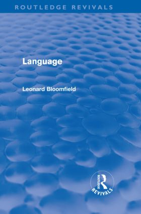 Language (Routledge Revivals) (Hardback) book cover