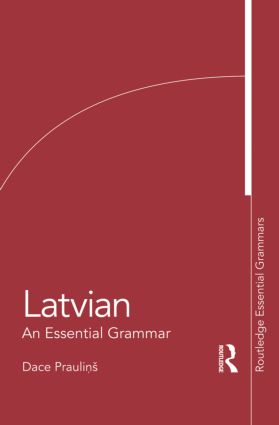 Latvian: An Essential Grammar book cover