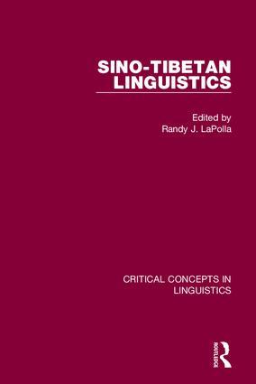 Sino-Tibetan Linguistics: 1st Edition (Hardback) book cover