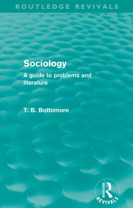 Sociology (Routledge Revivals)