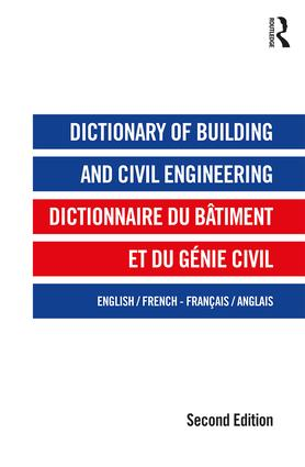 Dictionary of Building and Civil Engineering: English/French French/English book cover