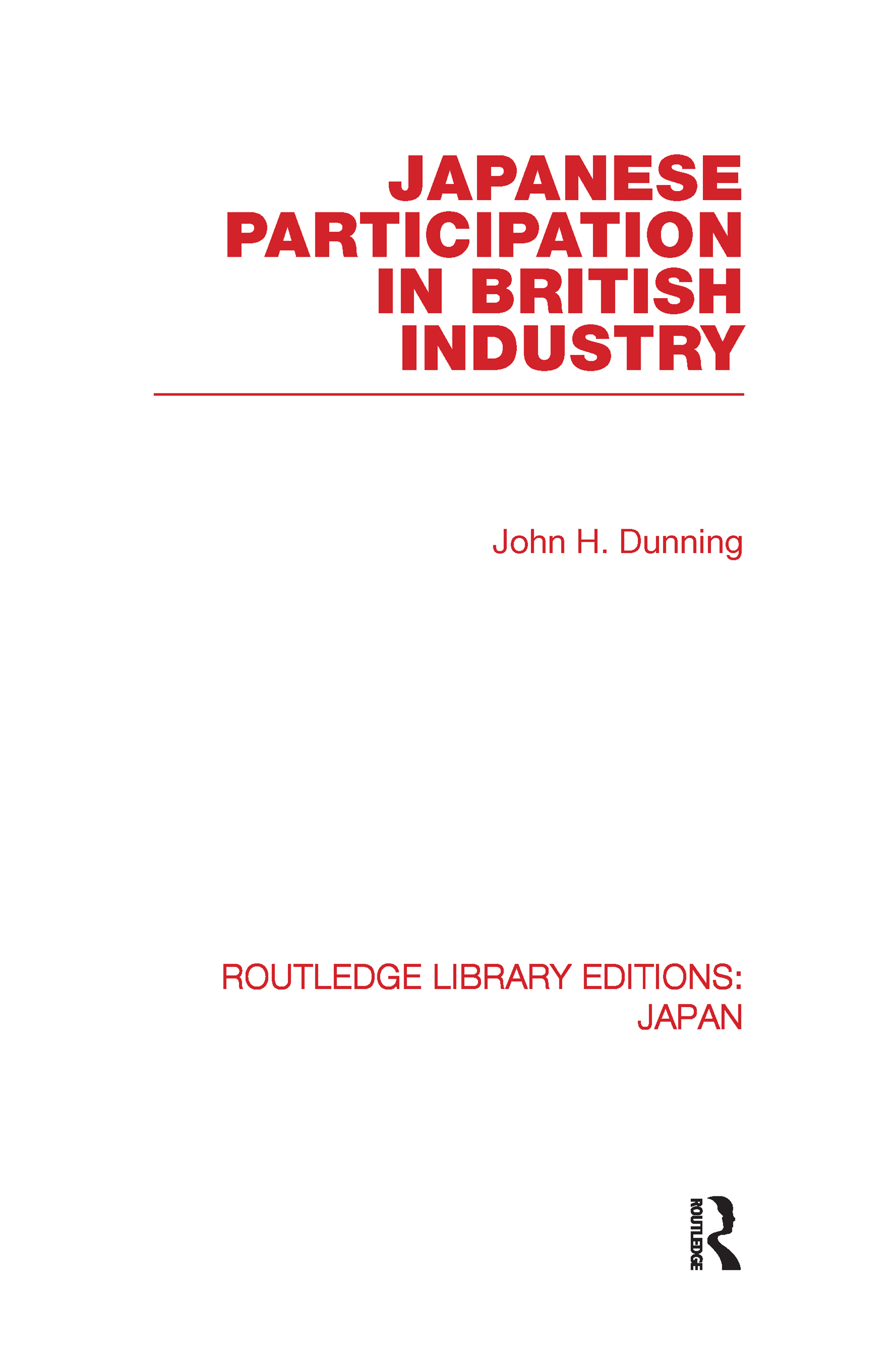 Japanese Participation in British Industry (Hardback) book cover