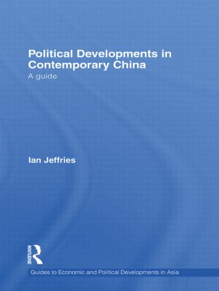Political Developments in Contemporary China: A Guide (Hardback) book cover