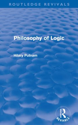 Philosophy of Logic (Routledge Revivals) (Paperback) book cover