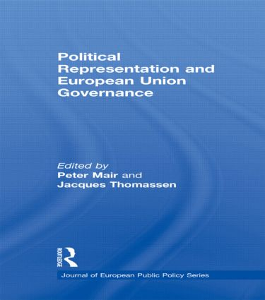 Political Representation and European Union Governance (Hardback) book cover