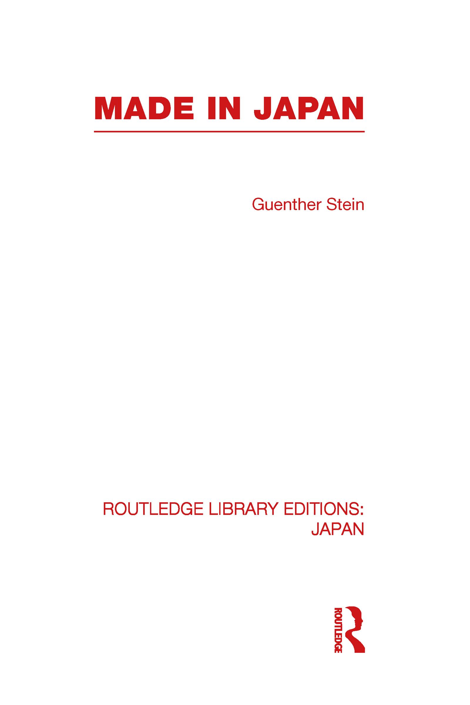Made in Japan (Hardback) book cover