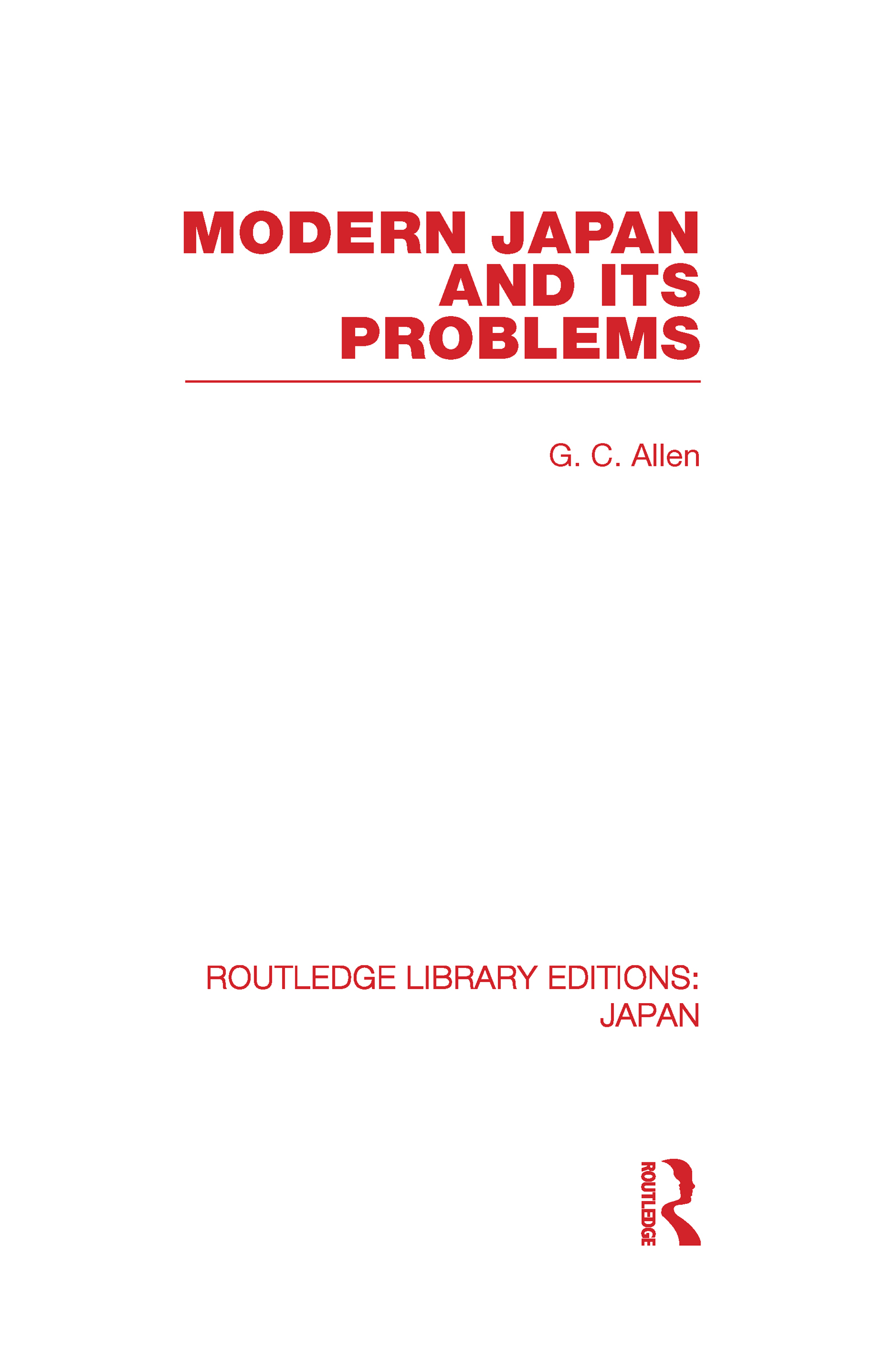 Modern Japan and its Problems (Hardback) book cover