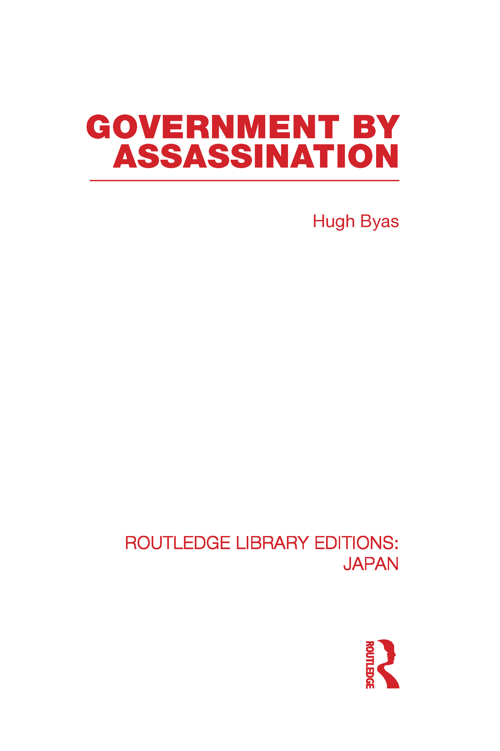 Government by Assassination (Hardback) book cover