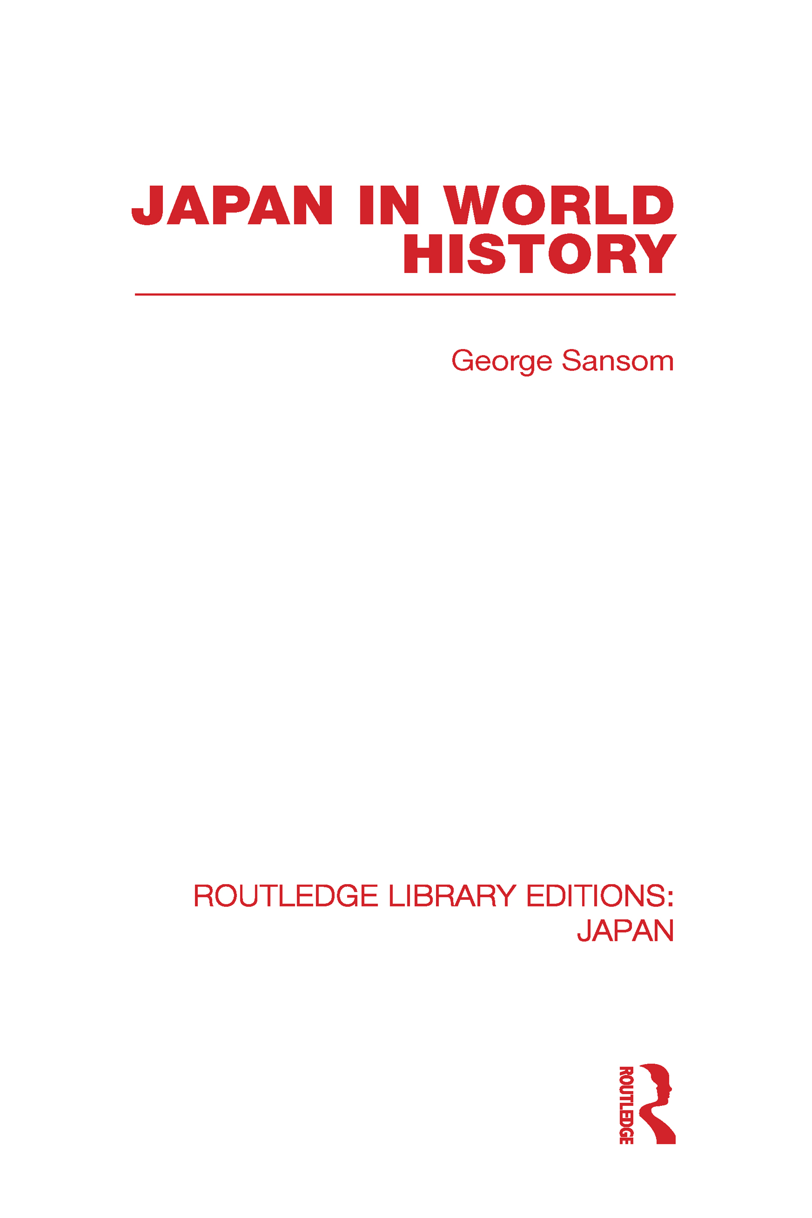 Japan in World History (Hardback) book cover