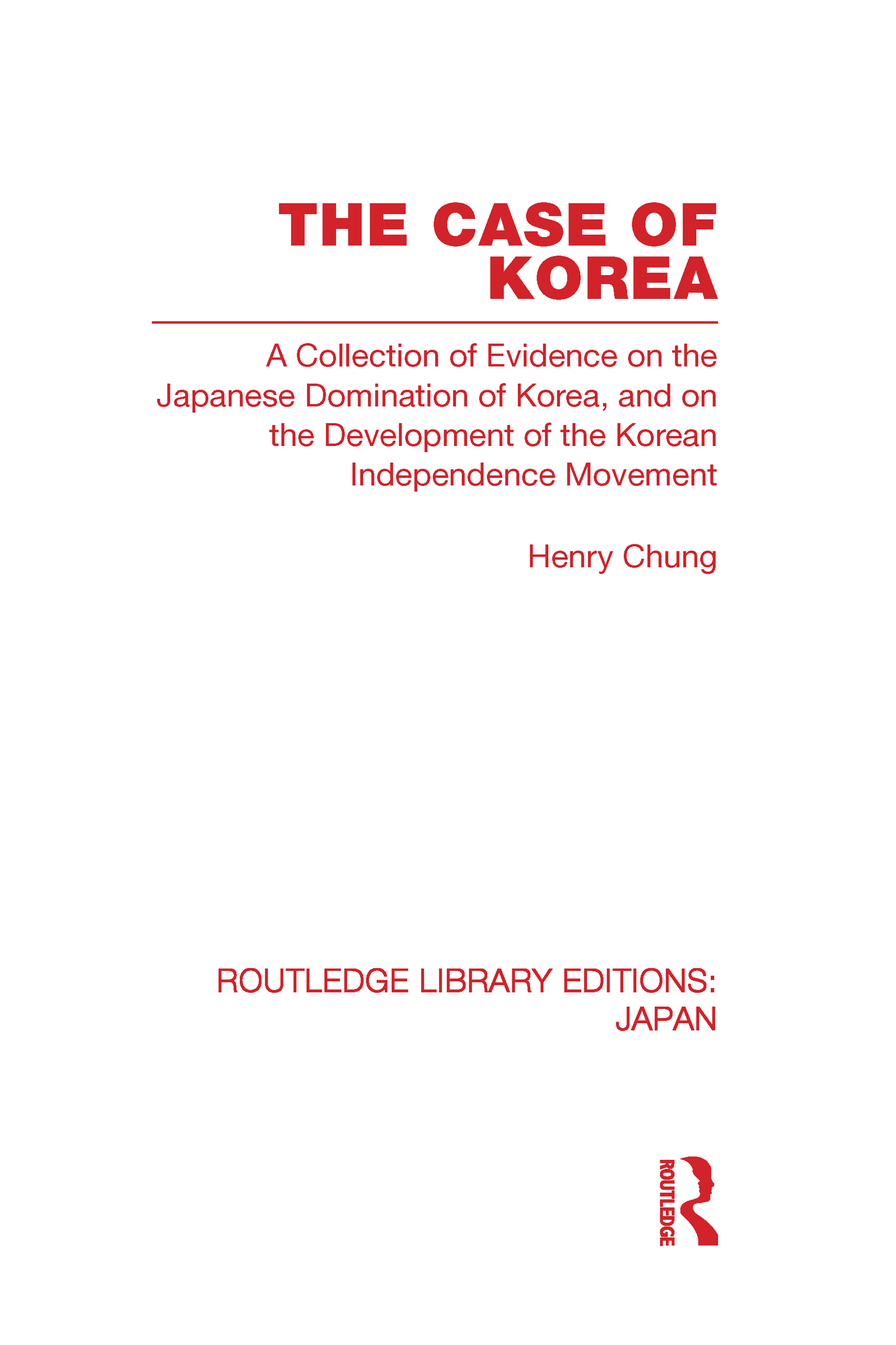 The Case of Korea (Hardback) book cover