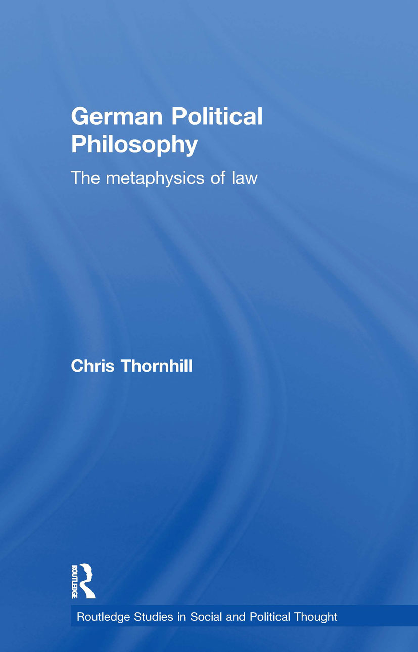 German Political Philosophy: The Metaphysics of Law (Paperback) book cover