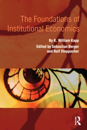 The Foundations of Institutional Economics book cover