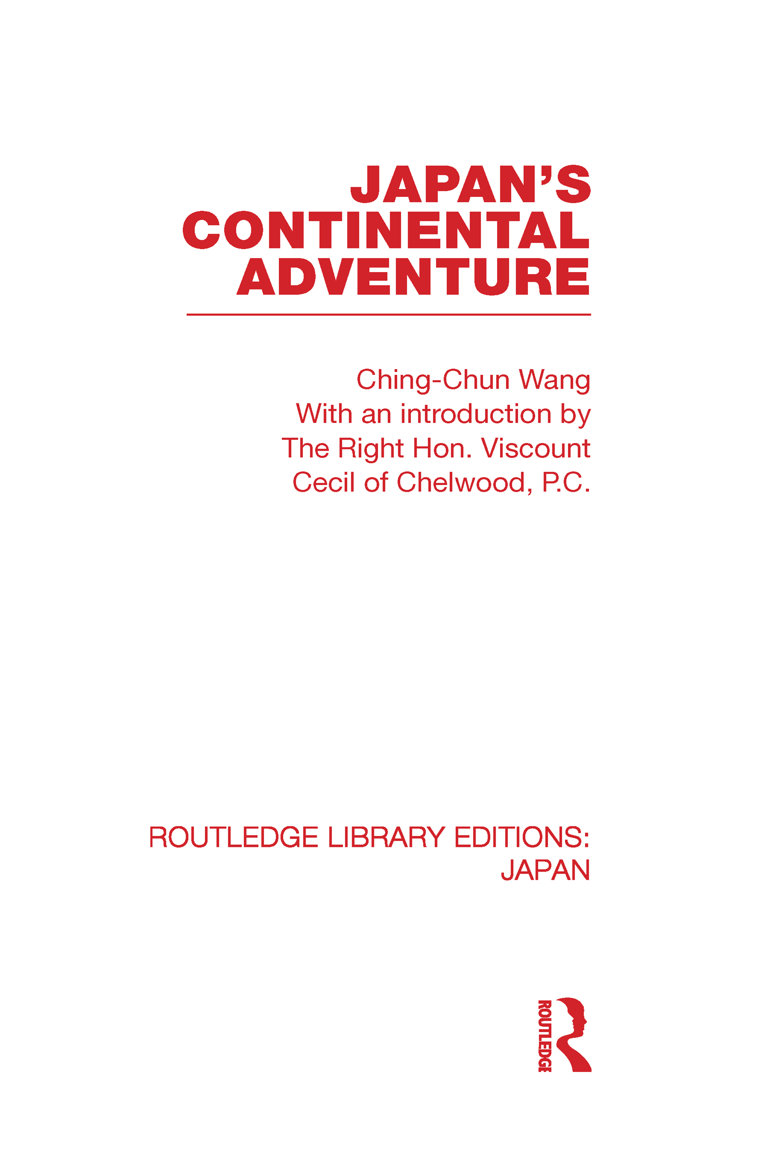 Japan's Continental Adventure (Hardback) book cover