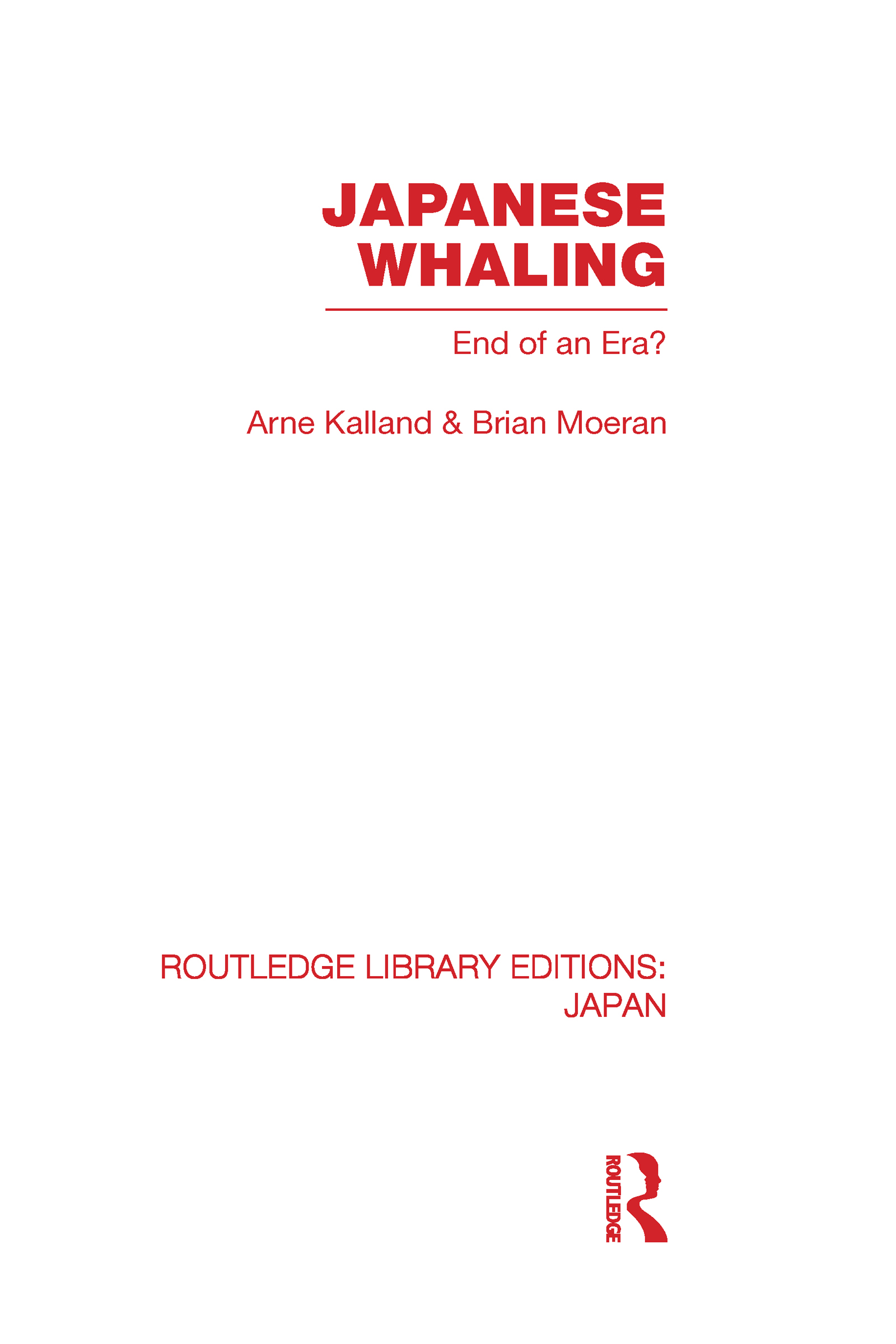 Japanese Whaling?: End of an Era (Hardback) book cover