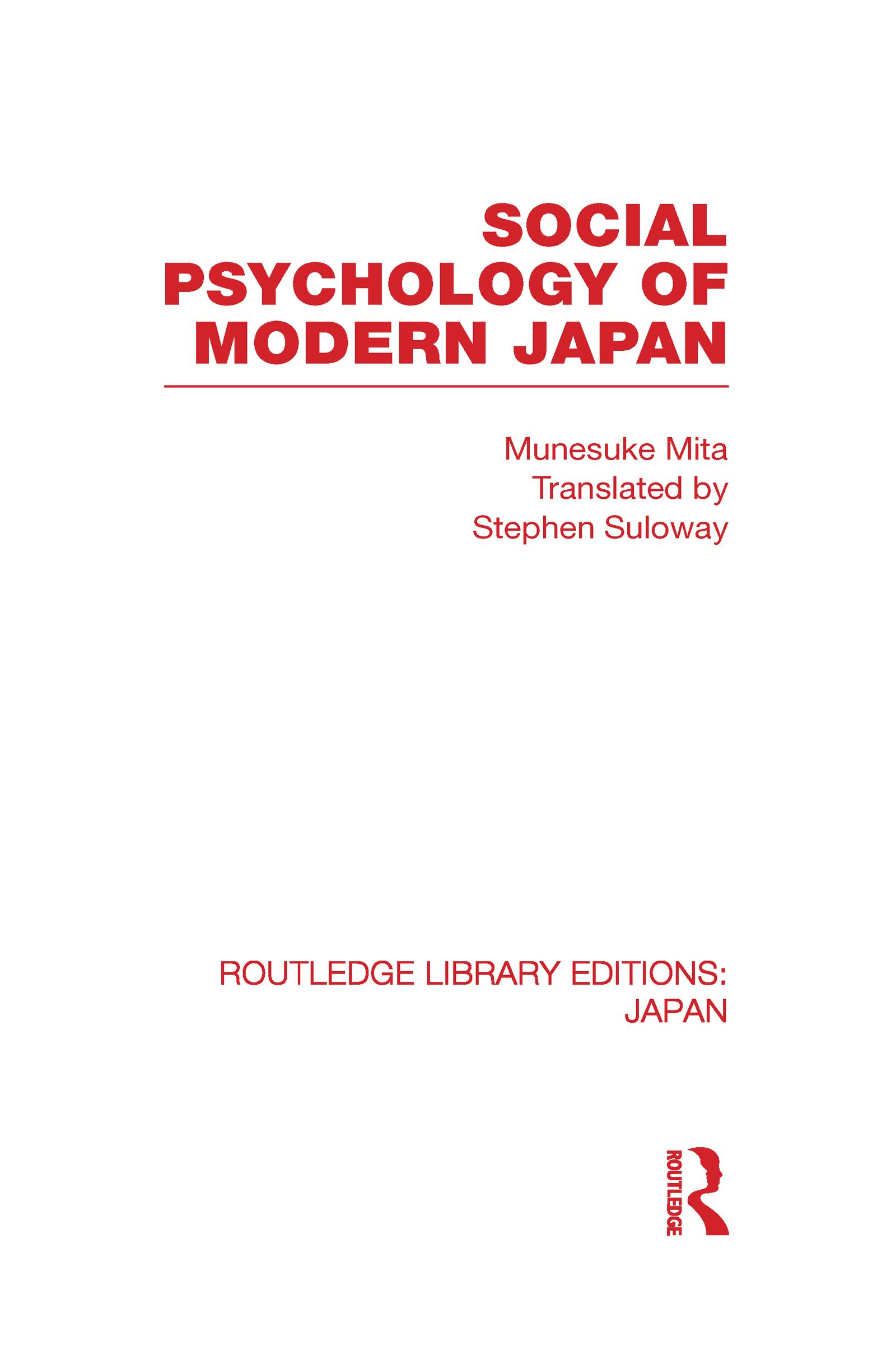 Social Psychology of Modern Japan (Hardback) book cover