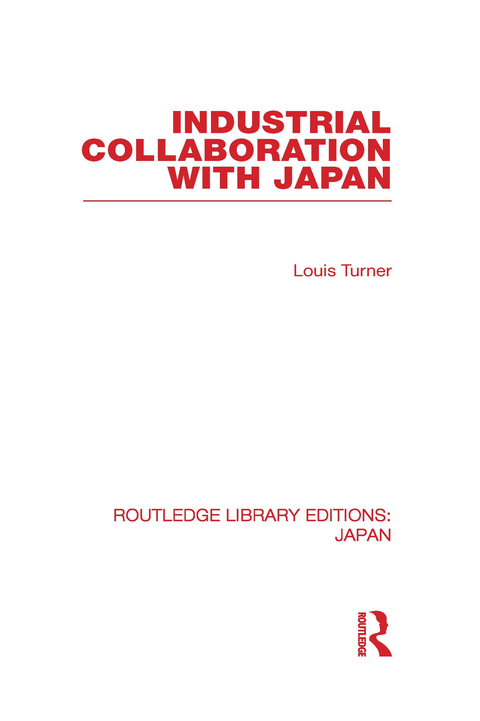 Industrial Collaboration with Japan (Hardback) book cover