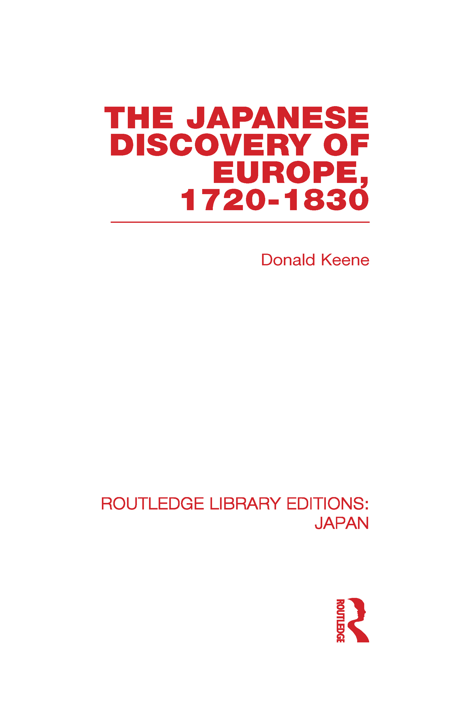 The Japanese Discovery of Europe, 1720 - 1830 (Hardback) book cover