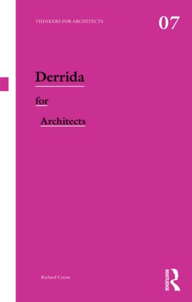 Derrida for Architects book cover