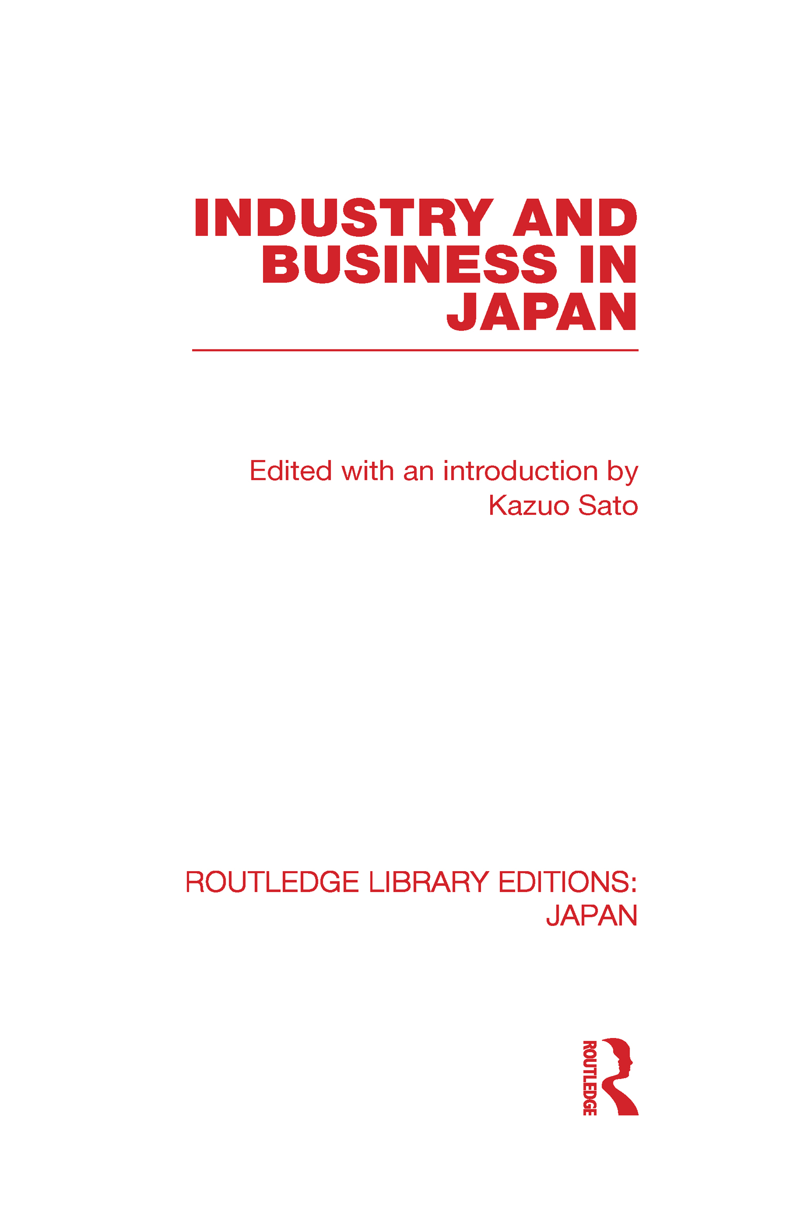 Industry and Business in Japan (Hardback) book cover