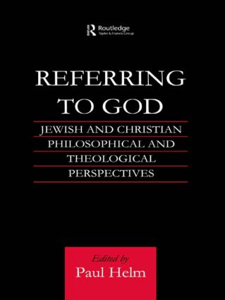 Referring to God: Jewish and Christian Perspectives (Paperback) book cover