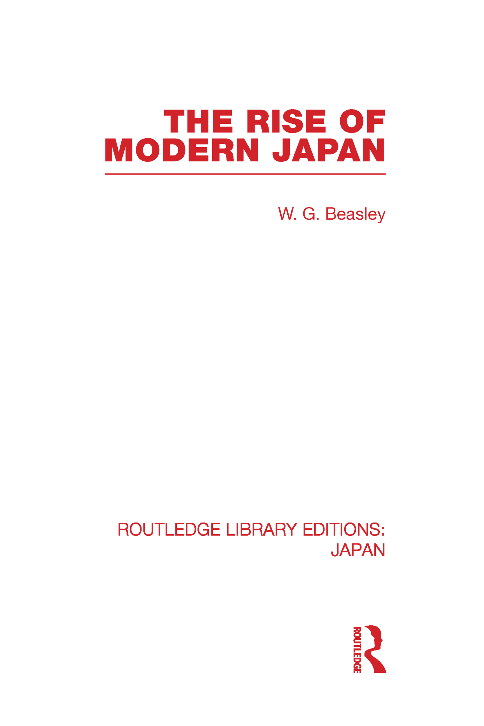 The Rise of Modern Japan (Hardback) book cover