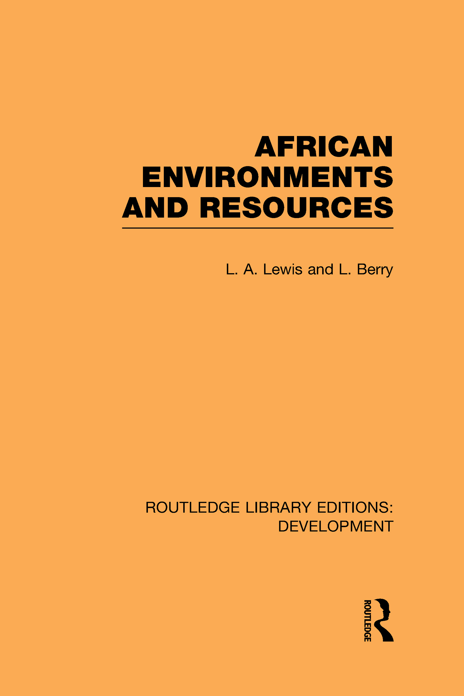African Environments and Resources (Hardback) book cover