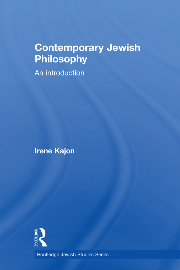 Contemporary Jewish Philosophy: An Introduction book cover