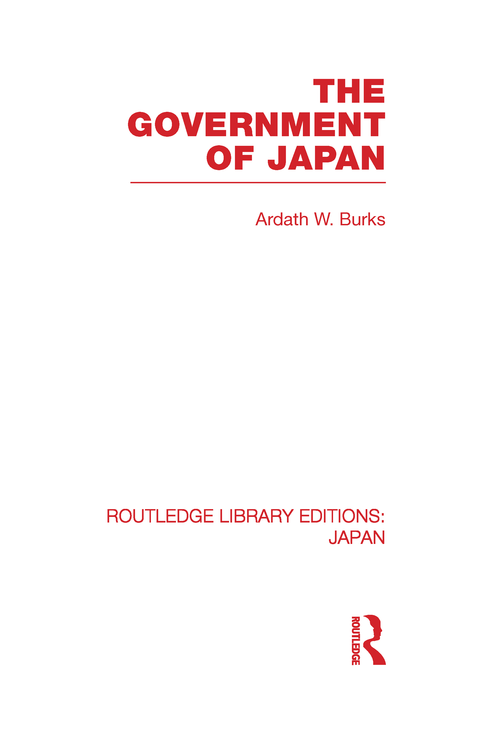 The Government of Japan: 1st Edition (Hardback) book cover