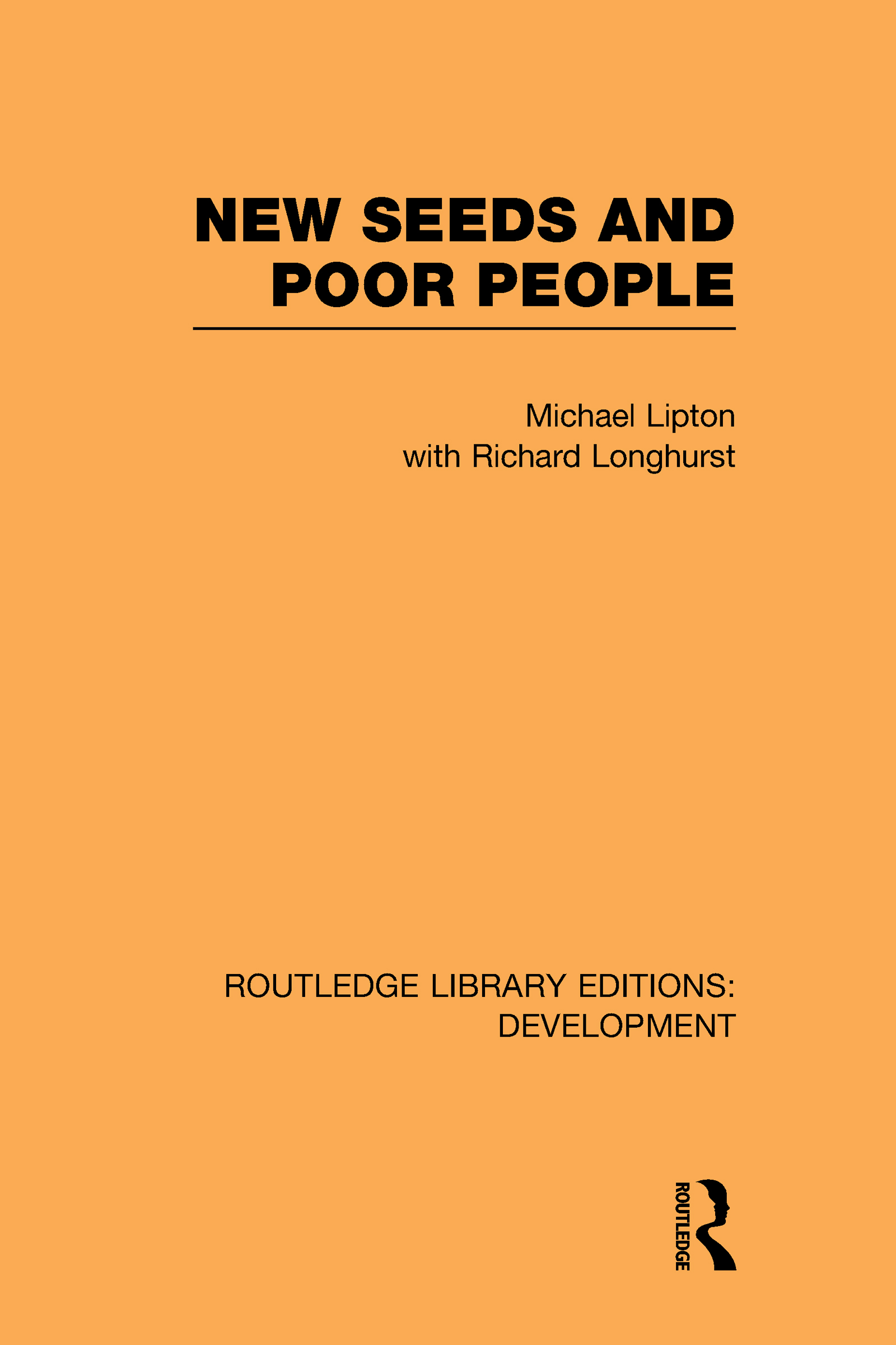 New Seeds and Poor People (Hardback) book cover