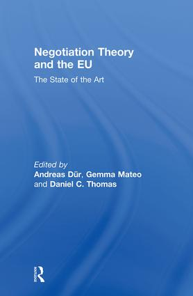 Negotiation Theory and the EU: The State of the Art (Hardback) book cover