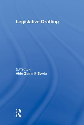Legislative Drafting (Hardback) book cover